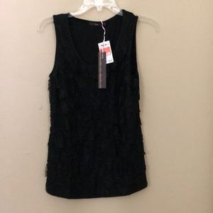 Hazel Black Lace Detail Tank Top